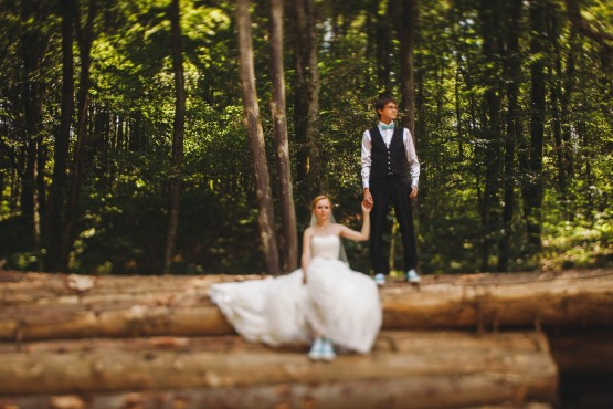 Alesya & Stas / In the woods